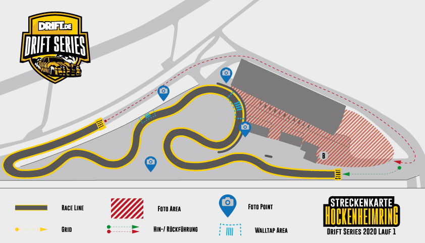 Drift Series   Saison 2020   Termine und Zeitpläne   1. Wertungslauf   Streckenkarte