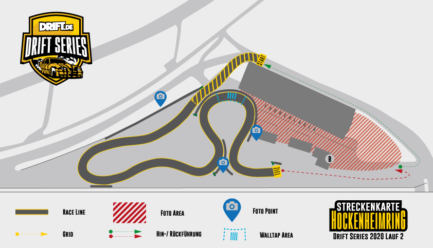Drift Series   Saison 2020   Termine und Zeitpläne   2. Wertungslauf   Streckenkarte